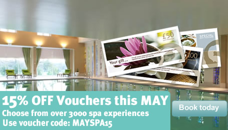 Voucher Special </br> 15% OFF this May